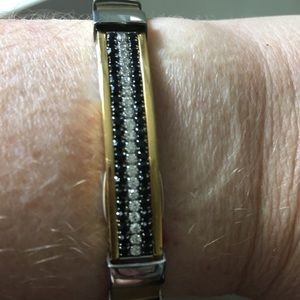 Foss 2 Tone Stainless Bracelet with Sparkle